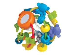 Csörgő labda homokórával bébijáték 31171911 Fejlesztő játék babáknak