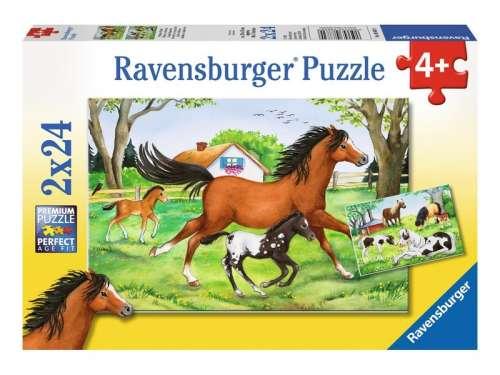 Ravensburger gyerek Puzzle 2x24db - Ló