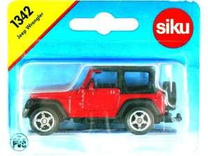 Siku fém Autómodell - Jeep Wrangler Terepjáró 1:55 31031047 Modell, makett