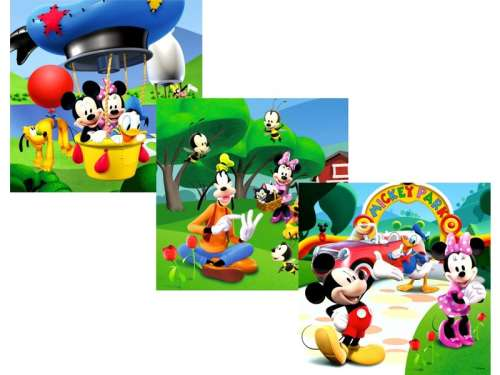 3in1 gyerek Puzzle - Mickey Mouse