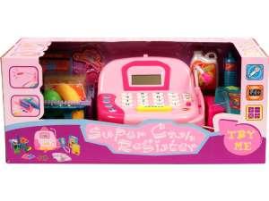 Pénztárgép mikrofonnal és bevásárlókosárral 31027619 Boltos játék, bevásárlás