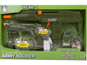 Katonai fegyver 7 darabos készlet 31040157 Katonai és rendőr felszerelés