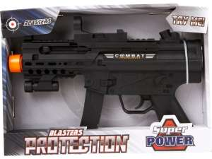 Combat elemes géppisztoly hanggal - 28 cm 31041994 Játékpuska, töltény