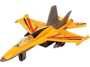 Hátrahúzós Repülő 11cm #sárga-szürke 31028187 Helikopter, repülő