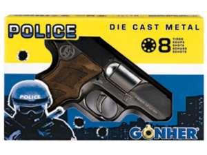 Rendőrségi patronos pisztoly - 18 cm 31026721 Játékpuska, töltény