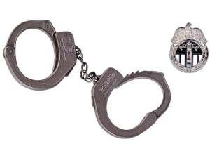 Rendőrségi fém bilincs 31036469 Játékpuska, töltény