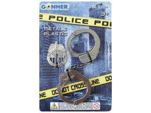 Rendőrségi fém bilincs 31036470 Játékpuska, töltény