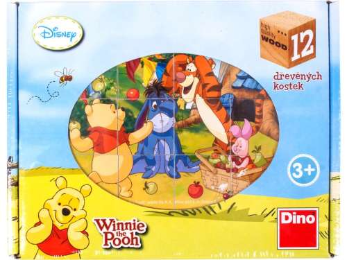 Gyerek Puzzle 12db - Micimackó