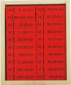 Matematikai alapműveletek Dominó 30994112 Dominó, sakk