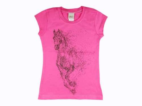 Lány Póló Ló #rózsaszín
