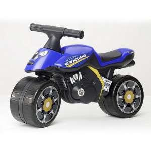 Falk New Holland lábbal hajtós Kismotor #kék 30809491 Bébitaxi, kismotor