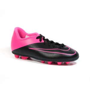 Nike Mercurial Vortex Fg Jr Gyerek Foci Cipő #fekete-rózsaszín 30774385 Gyerekcipő sportoláshoz
