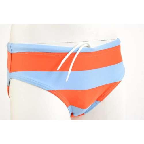 Sanetta Fiú Fürdőbugyi - Csíkos #kék-narancssárga