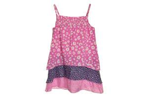 s. Oliver rózsaszín, virágos lány ruha 30817871 Kislány ruha