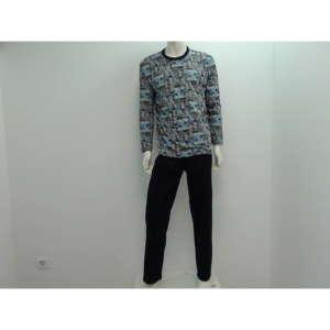 Sanetta fiú Pizsama #szürke-fekete 31069016 Gyerek pizsama, hálóing