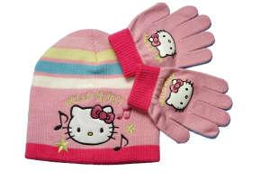 Lány 2 részes Szett - Hello Kitty #rózsaszín 30857943 Gyerek sapka, sál, kesztyű