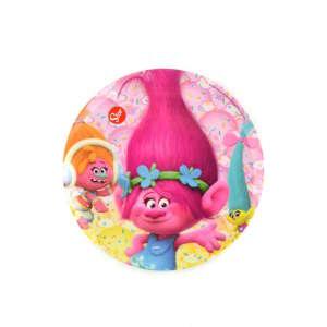 Dreamworks Lapostányér - Trollok #rózsaszín 31220360 Tányér, evőeszköz, étkészlet
