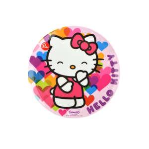 Műanyag Lapostányér - Hello Kitty #rózsaszín 31220591 Tányér, evőeszköz, étkészlet
