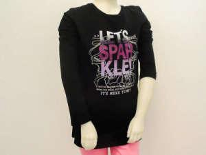 Hosszú ujjú póló #fekete 30854940 Gyerek hosszú ujjú póló