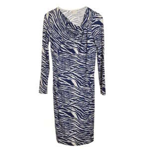 InWear kék zebra mintás, hosszú ujjú női ruha – S 31070639 Női ruha