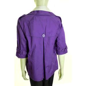 QS lila, rövid ujjú női kabát 31204089 Női kabát, dzseki