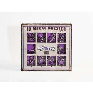 10 Metal Puzzle Set - lila 30787308 Logikai játék