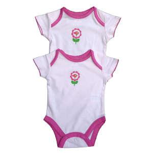 Rövid ujjú 2db-os Body - Madárka #rózsaszín-fehér 31064583 Body