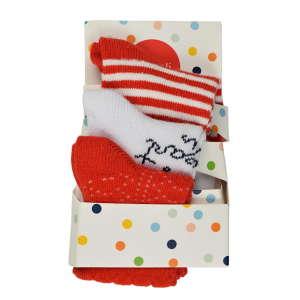 Boboli bébi Zokni 3 pár #piros-fehér 31068445 Gyerek zokni, térdtappancs