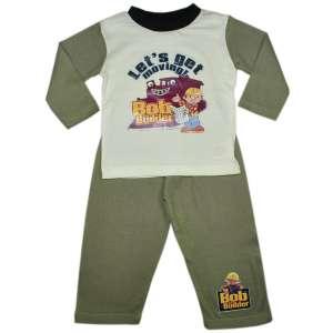 Fiú Pizsama - Bob a mester #fehér-szürke 31065640 Gyerek pizsama, hálóing