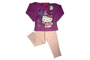 Lány Pizsama - Hello Kitty #lila-rózsaszín 30856067 Gyerek pizsama, hálóing