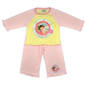 Lányka Pizsama - Dóra, a felfedező #sárga-rózsaszín 31065575