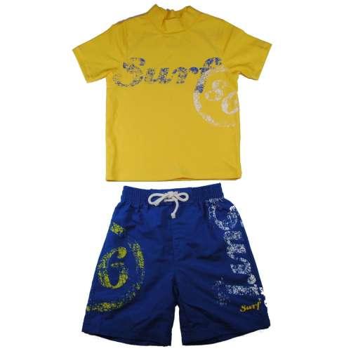 2 részes Fiú Fürdőruha #sárga-kék