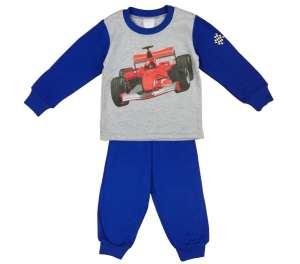 Fiú Pizsama - Versenyautó # kék-szürke 30790222 Gyerek pizsama, hálóing