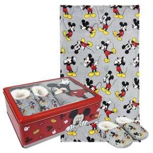 Disney Takaró és mamusz szett 95x160cm - Mickey Mouse #szürke 30790408 Pléd, takaró
