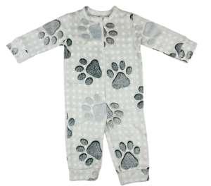 Wellsoft overálos Pizsama - Tappancs #szürke 30790525 Gyerek pizsama, hálóing