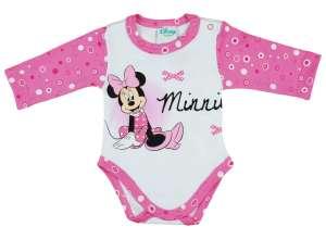 5d7731d8ce Disney Minnie lányka hosszú ujjú kombidressz pöttyös ujjú 30790601 Body-k