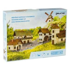 Alpesi ház építő makettjáték,. 103 db-os 30797924 Fa építőjáték