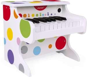 Janod elektronikus Zongora - Pöttyös #fehér 30798109 Hangszer