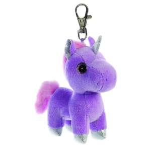 Sparkle Tales Bonbon unikornis kulcstartó, lila 13 cm Aurora 30798117 Kulcstartó gyerekeknek