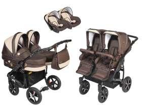 Dorjan Prestige Butterfly Twin iker 3in1 multifunkciós Babakocsi #barna 30800852 Babakocsi