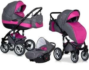 Riko Brano 3in1 multifunkciós Babakocsi #rózsaszín 30800977 Babakocsi