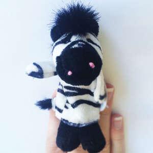 Ujjbáb-vadállatok zebra 9cm 30808191 Báb játék