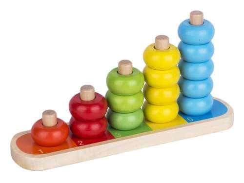 Fa számoló játék 16 darabos készlet