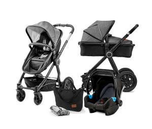 Kinderkraft Veo 3in1 multifunkciós Babakocsi #fekete-szürke 30810494 Babakocsi