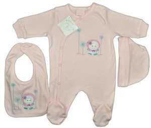 Kislány 3 részes rugdalózó Szett #rózsaszín  30855014 Ruha együttes, szett gyerekeknek
