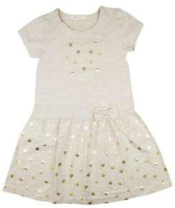 Kislány alkalmi arany szív mintás ruha (TUR) 30811148 Alkalmi és ünneplő ruha