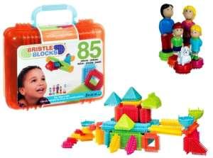 Bristle Blocks Építőjáték hordtáskában 85db 30811377 Műanyag építőjáték