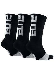 Nike Elite gyerek Zokni 3db #fekete-fehér 30812337 Nike Gyerek zokni, térdtappancs