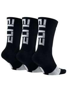 Nike Elite gyerek Zokni 3db #fekete-fehér 30812477 Nike Gyerek zokni, térdtappancs