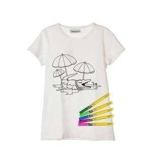 Lacoste kiszínezhető lány Póló #fehér 31207387 Gyerekruhák és babaruhák